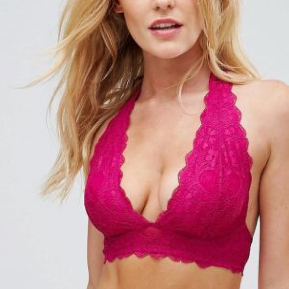 ee14b15a1b ✨2  20 Free People Galloon Lace Halter Bralette M